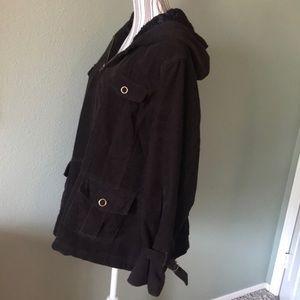 Sonoma Corduroy Jacket, fur lined hood